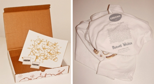 Skateboard Explosion limited box by Porpus Walker / LTD Tee - details