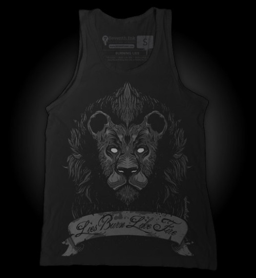 Burning Lies tank top by Seventh.Ink